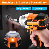 High Power Brushless Impact Driver Drill 20V Li-Ion Woodworking Tool Efficiently