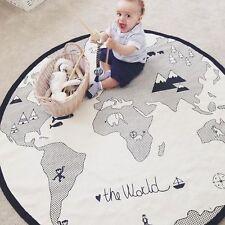 GS: 1 Baby Kinder Teppiche Spielteppiche Weltkarte Kinderzimmer Baumwolle 95cm