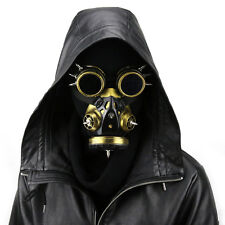 Retro Steampunk Gas Mask with Goggles Unisex Halloween Cosplay Punk Mask