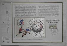 Document philatélique CEF Soie 630 1er jour 1982 Coupe du Monde de Football