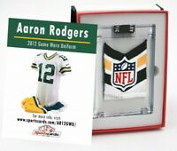 AARON RODGERS 2012 GREEN BAY PACKERS GAME WORN JERSEY SWATCH
