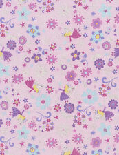 Timeless Treasures Enchanted Fairies CM3816 Pink 100% cotton fabric by the yard