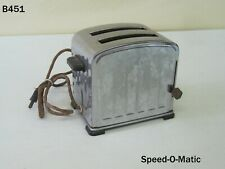 Vintage SPEED-O-MATIC Art Deco Chrome Toaster