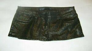 """7"""" Black & Copper Coloured Micro Mini Skirt Size 10"""