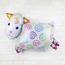 "Large Sheep foil balloon  White  82cm x 52cm  32"" x 20"" Lamb nursery baby"