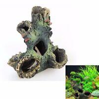 Aquarium Fish Tank Ornament Rockery Hiding Cave Landscape Underwater Decor