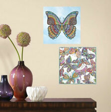 COLOR YOUR OWN DECAL Butterfly 2 large wall stickers 11.75 inches dorm bedroom