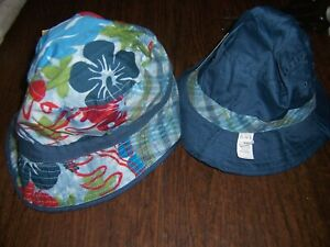 NWT Children's Place Boys Reversible Bucket Hat Size 18-24mo or 3-4T Navy  NEW