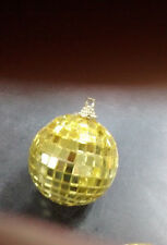 """One 2"""" Gold DISCO BALL glass mirror party favor car hanging wedding  Christmas"""