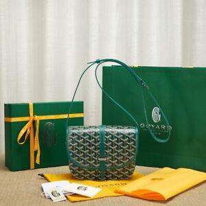 GOYARD Goyardine Belvedere II 2 PM Messenger Bag Green