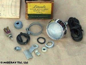 Lincoln Backup Light Accessory Kit Continental Lido_Cosmopolitan 1950 NOS
