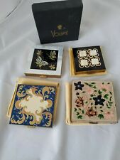 New listing Four Vintage mid-century Volupte square compact with mirror and one box