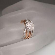 Ring mit 0,49ct Brillant TW-si in 750/18K Weiß-/Rosegold UVP. 3.395.-€