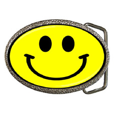 SMILEY FACE CLASSIC HAPPY FACE BELT BUCKLE - GREAT GIFT ITEM