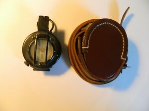 Prismatic marching compass F. Barker M-72 and pouch
