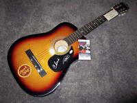 CHEECH & CHONG Autograph SIGNED Full Size Acoustic Guitar PSA COA Tommy Marin