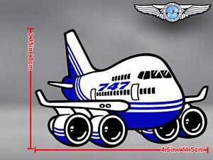 BOEING B 747 B747 CUT TO SHAPE DECAL / STICKER 4.5 x 3.15 in / 11.5 x 8 cm