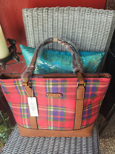SIMPLY NOELLE ~ LUMBER JILL PLAID ~ Shoulder Tote ~ RARE ~ New With Tag