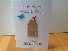 Handmade personalised new home card- personalised with names