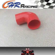 "ID 89mm 3.5"" Silicone 90° degree Elbow hose  INTAKE TURBO INTERCOOLER PIPE RED"