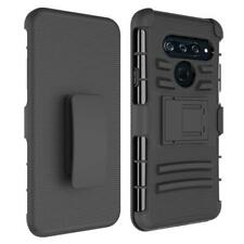 Heavy Duty Belt Clip with Kickstand Holster Built-in Armor Case Cover for LG V40