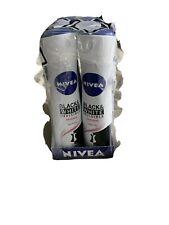 6X Nivea Anti-Perspirant Deodorant Black & White Invisible For Women 150ml