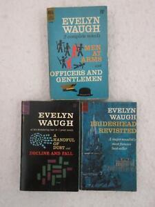 Lot of 3 Evelyn Waugh Dell Mass Market Paperbacks 5 Novels BRIDESHEAD REVISITED