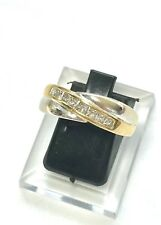 WIDE GENUINE PRINCESS DIAMOND CROSSOVER CLUSTER RING 9CT GOLD VALUATION $2,250