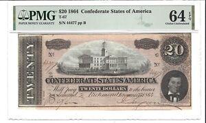 1864 $20 Confederate Note