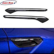For 2014 - 2017 BMW M6 F12 F13 F06 M6 Gran Coupe Carbon Fiber Fender Light Trim