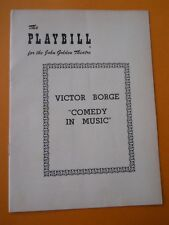 October 18 - 1954 - John Golden Theatre Playbill - Comedy In Music