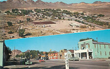 BEATTY, NEVADA - SPLIT-VIEW - STREET VIEW & BIRDSEYE VINTAGE POSTCARD