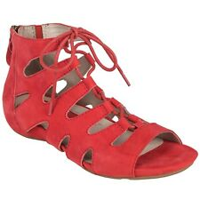 Earth Roma Earthies Womens Leather Gladiator Comfort Spicy Red Premium Suede 9.5