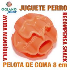 JUGUETE PERRO GATO PELOTA HUECOS RECOMPENSA GOMA RESISTENTE 8 cm L158 3712