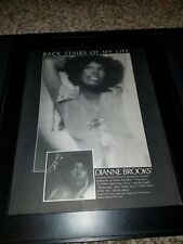 Dianne Brooks Back Stairs Of My Life Rare Original Promo Poster Ad Framed!