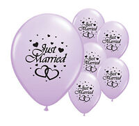 """20 JUST MARRIED LILAC 12"""" HELIUM QUALITY PEARLISED WEDDING BALLOONS (PA)"""