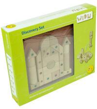 WIDU Magnetic Wooden Building Blocks, 30 Piece Discovery Set