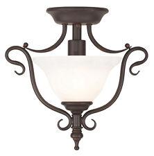 Coronado Livex 1 Light Bronze Semi Flush Ceiling Mount Fixture Sale Lamp 6186-07