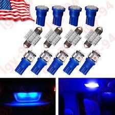 13x Blue LED T10 & 31mm Festoon Bulbs Packge Kit for Interior Map & Dome Lights
