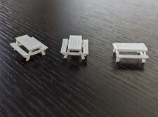 Picnic Tables - HO Scale - set of 3