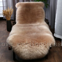 100% Genuine Sheepskin Rug Natural Pelt Sofa Mats Pad Real Lambskin Fur Carpets