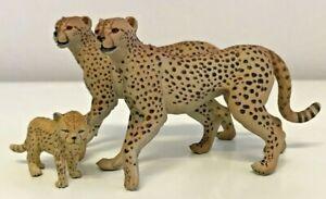 Papo Wildcats Cheetah & Cub Toys Figures Animals Lot 2004 2006