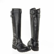 Women's Nine West Aragosta Shoes Black Synthetic Round Toe Boots Size 5 M