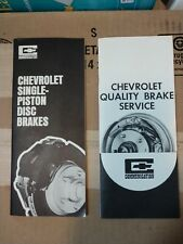 Vintage Chevy Brake Service booklets 2 Chevrolet Disc+Drum 1968 Overhaul Manual