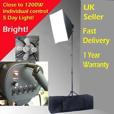 Professional 1150W 5 bulbs 60x90cm Photo Studio Lighting Softbox Package PHT4B