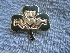Irish Gaelic Claddagh On Shamrock Brooch Pin Gift Box Irish Pride Ireland