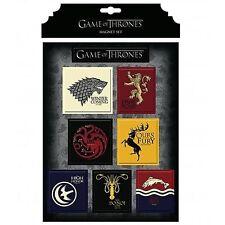 Game of Thrones New * House Magnet Set * Stark Lannister Targaryen Baratheon
