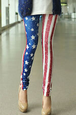 SPANDEX STRETCH FASHION AMERICAN FLAG LEGGINGS LC79303