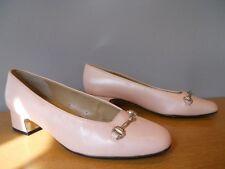 Nos Vintage Pink Naked Nude Sample Shoes Comfort Flex Horsebit Retro Low Heel 6