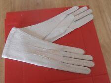 1940s New Ladies Cream Peccary Gloves size 7